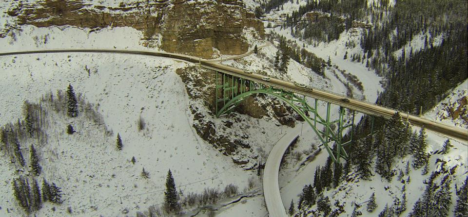Us Highway 24 Bridge Outside Red Cliff Colorado